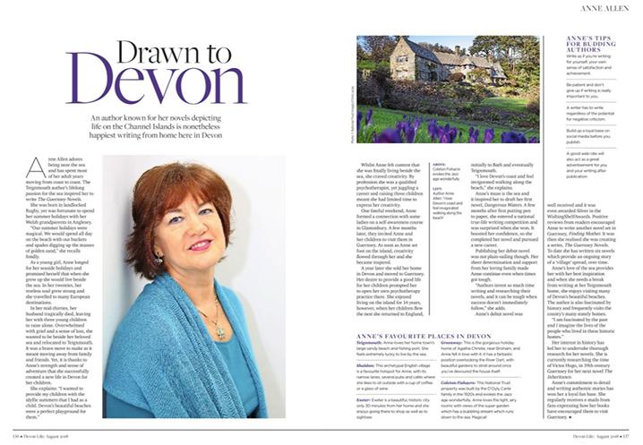 Anne Allen Devon Life Magazine August 2018
